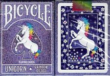 Unicorn Rainbow Gilded Bicycle Playing Cards Poker Size Deck USPCC Limited New