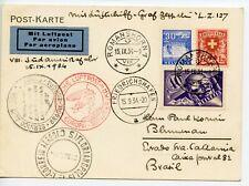 GRAF ZEPPELIN 1934.9.15 VIII S America flight  SWITZERLAND-BRAZIL SOUTH AMERICA
