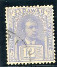 Sarawak 1922 KGV 12c pale dull blue very fine used. SG 70a.