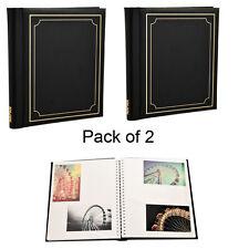 2x Nero Self Adesivo Album Fotografici SPIRALE Bound 20 fogli 40 LATI bk40-2pack