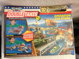 RARE VTG 1996 MICRO MACHINES DOUBLE TAKES OPERATION SEA STRIKES Playset 10yr