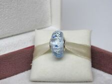 New w/ Box Pandora Alaska Blue Ice Drop Murano Glass Bead Charm Glacier
