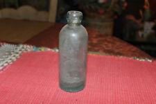 Antique B Zimmerman New Brunswick NJ Beer Soda Clear Blue Glass Bottle-EMPTY