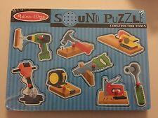 NEW Melissa & Doug Construction Tools Sound Puzzle Saw Hammer Drill NIP