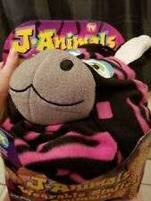 j.animals as seen on tv pink zebra cosplay size medium fits 3'6 to 5'1