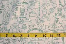 Gumdrops & Lollipops Fabric Green Toile Print  Cotton Fabric Quilting Treasures