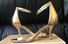 929e188d2169 Michael Kors Kristen Mid Patent Heel Sandal - Pale Gold 6M