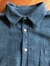 PORTUGUESE FLANNEL TECA CHARCOAL MENS LONG SLEEVE SHIRT SIZE LARGE EXCELLENT