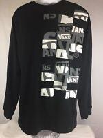 Vans Long Sleeve Shirt Black Size XXL 2XL Cotton Blend Graphic Tee Sweat