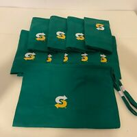 New - Lot of 10 - Subway Sandwiches Employee Waist Short Apron Green Worker