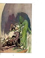 unframed  poster art fantasy frazetta couple with creatures(14m)