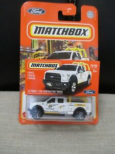 """MATCHBOX """"15 FORD F-150 CONTRACTOR TRUCK MINT IN BLISTER SET OF 2"""