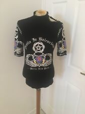 Balenciaga Devils In Balenciaga Black Button Top Size 36 Uk 8 Must C Rare