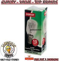 Eveready 15w Refrigerator Fridge Freezer Appliance SES E14 Screw Bulb Pygmy