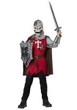 Men's Skull Knight Halloween Costume NEW Size Large (42-44) Medieval Skeleton