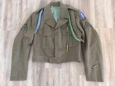 Original US Army 8th Infantry Ike Jacket w/ Insignia Patch & BRAIDS