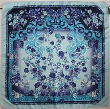 NWT Authentic VERSACE *ROSES* Floral & Baroque Print 100% Silk Scarf Foulard