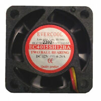 Evercool EC4015SH12BA 40mm x 15mm 12V high speed fan 3 pin connector