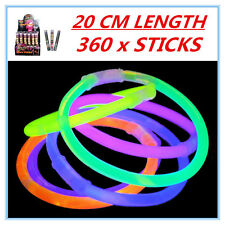 360 X GLOW STICKS - PARTY WEDDING EVENT BIRTHDAY CELEBRATE CONCERTS CAMPING DDDF