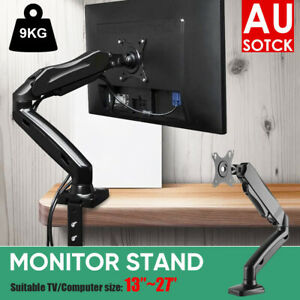 Monitor Stand Arm Single Gas Desk Mount 1 Display Screen HD LED TV Holder AU STO
