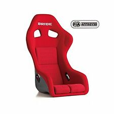 GENUINE BRIDE ZETA III PLUS FIA APPROVE FULL BUCKET SEAT RED LOGO  FRP H31IMF