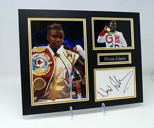 Nicola ADAMS Signed Mounted Photo Display AFTAL COA, Olympic Gold Boxer