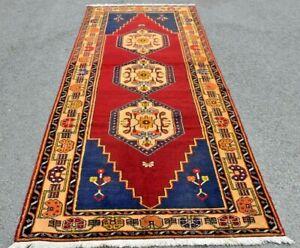 Vintage High Quality Wool Carpet Turkish Handmade Oriental Runner Rug 4x10 ft