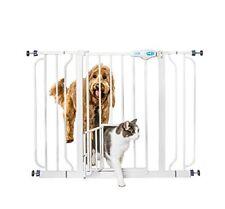 Extra Tall Tallest Big Walk-Thru Gate Baby Pet Cat Dog Door Barrier Fence Jumper