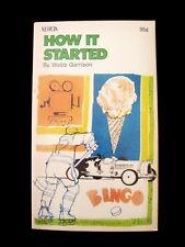 How It Started  Webb Garrison 1972 1st Ed. by Xerox Ed Publications Paperback FS
