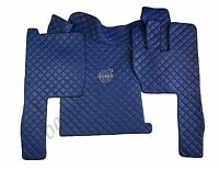 Set of RHD Floor Mats For VOLVO FH 2004-2014 Manual BLUE Eco Leather.