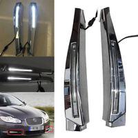 LED Daytime Running Light DRL Fog Lamp Indicator For Jaguar XF 2008-2009 2010
