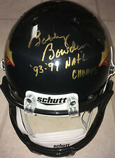 "Bobby Bowden Signed BLACK FSU Full Size Helmet w ""93-99 NATL Champs!"" PROOF"