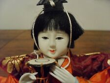 Japanese Female Hina DOLL-Vintage 15cm- traditionnelle-objet de collection-MADE IN JAPAN