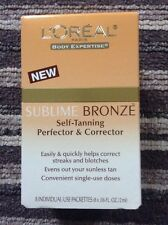 L'Oreal Sublime Bronze Self Tanning Perfector & Corrector 8 Sachets- Brand New