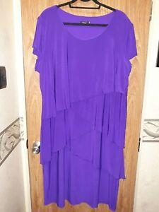 Plus size purple dress by EVE HUNTER.. size 24 . BNWOT.