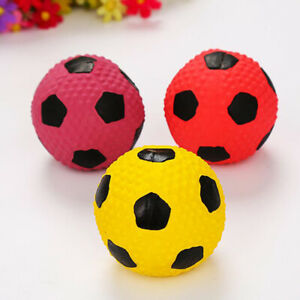 Football Dog Toy Balls Rubber Dog Toy Floating Ball Soft Durable Dogs Chew Ball