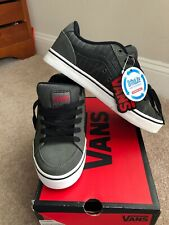 VANS TRANSISTOR BLACK/CHARCOAL/RED  VN-0KXTLH4 Skate Shoes sneakers Men SZ 9 NEW