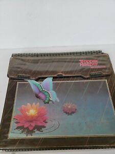 Vintage Rare Black Mead TRAPPER KEEPER Notebook 3 Ring Binder Folders Butterlfy