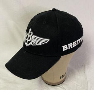 BREITLING BASEBALL HAT CAP BLACK MEN'S AUTHENTIC NEW ADJUSTABLE