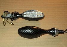 2X LED BLINKER CARBON MINI GILERA Dakota 350,125 Hawk,DNA125,XRT 600,NX 250 LC