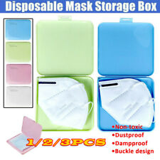 Plastic Portable Face Cover Storage Boxs Case Organizer Dustproof 130* 130* 14MM