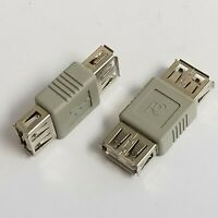USB 2.0 A Female to Female Gender Changer Adapter- Qty. 02