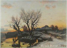 "28"" PRINT Spring in the Country,1880 by Klever ANTIQUE MUSEUM ART"