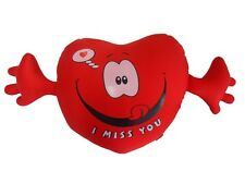 Microbead Heart l Miss You Pillow Cushion Travel Head Neck Lower Back Arm Rest