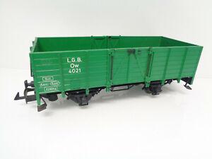 LGB Spur G 4021 Hochbordwagen Ow grün LA8924 o.