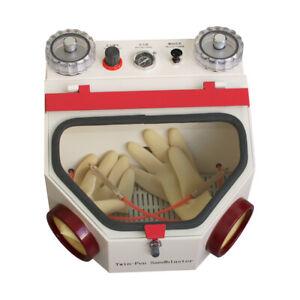 US Dental Double Pen Sandblaster Dental Lab Tool Twin-Pen Sand Blaster with lamp