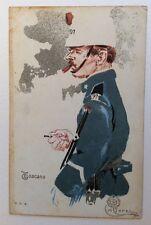 CPA. Illustrateur Aleardo TERZI. TOSCANO. Militaire. Cigare. Tabac.