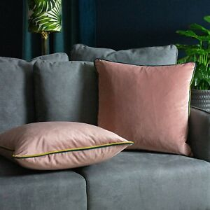 Furn Gemini Cushion Cover with double pipe, in Blush/Bamboo/Teal