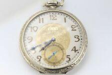ELGIN 1925 GRADE 345 SOLID 14K GOLD POCKET WATCH RUNNING GOOD #137