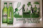 """Heineken Beer Signs-Floor/Wall Vinyl Graphic Decals 19""""x30"""" """"...BEST OF SUMMER"""""""